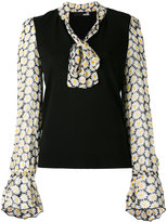 Love Moschino floral print contrast top - women - Polyester/Viscose - 42