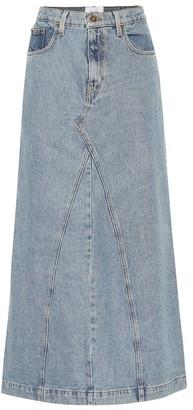 Nanushka Mae denim skirt