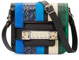 Proenza Schouler PS11 Tiny Snakeskin Stripe Shoulder Bag