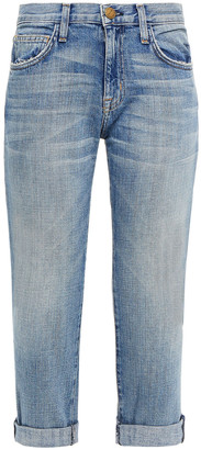 Current/Elliott Cropped Faded Boyfriend Jeans