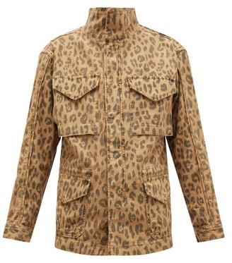 Frame Leopard-print Cotton Cargo Jacket - Leopard