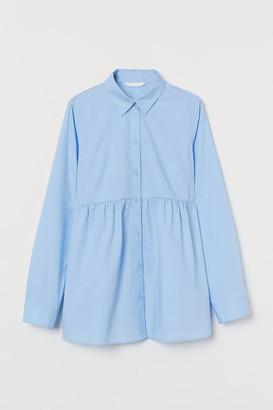 H&M MAMA Cotton poplin shirt