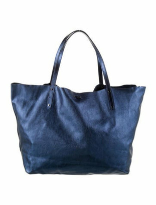 Tiffany & Co. Leather Reversible Tote Blue