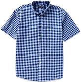 Roundtree & Yorke Big & Tall Linen Checked Short-Sleeve Sportshirt