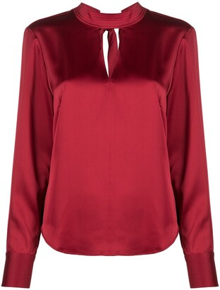 DKNY High-Neck Long-Sleeve Blouse