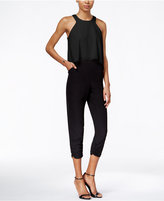 Bar III Colorblocked Popover Jumpsuit, Only at Macy's