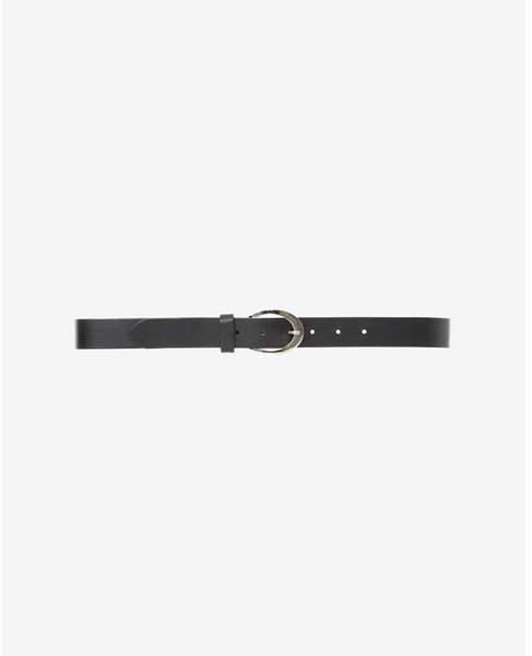 Express round buckle skinny belt