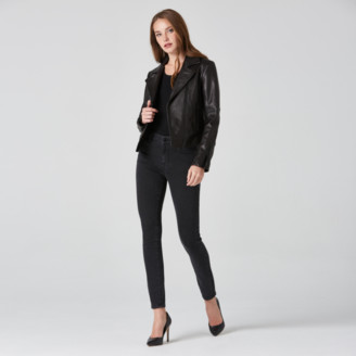 DSTLD High Rise Skinny Jeans in Faded Black