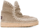 Mou braided sole boots - women - Suede/Leather/rubber - 38