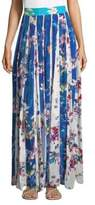 Rococo Sand Floral Crepe Maxi Skirt