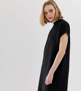 Weekday High Neck Dress-Black