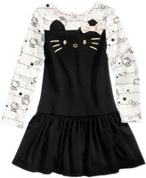 Hello Kitty Embroidered Face Dress, Little Girls (4-6X)