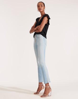 Veronica Beard Carolyn High-Rise Baby-Boot Jean