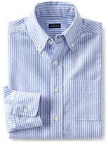 Lands' End Kids Husky Washed Oxford Shirt-Northern Sky Camo