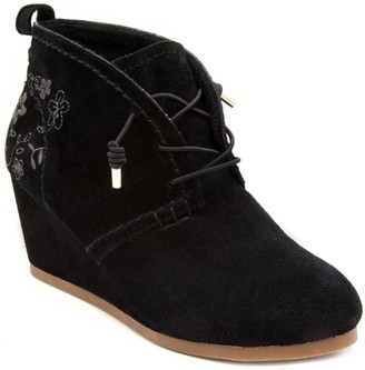 Sugar Women's Maybe Baby Wedge Ankle Bootie 10 Black