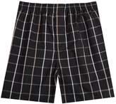 Pau1Hami1ton Men's Cotton Woven Boxer Brief Tartan Plaid Cover Waistband Underwear Men(#,L)