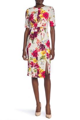 Taylor Floral Print Scuba Sheath Dress