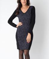 Yuka Paris Black, Indigo & Gray Farah Dress