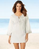 Soma Intimates Saachi Long Sleeve Ivory Embellished Tunic