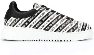 Emporio Armani logo stripe low-top sneakers