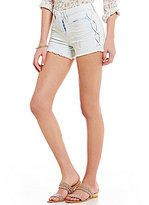 William Rast Destructed High Rise Cutoff Stretch Denim Shorts