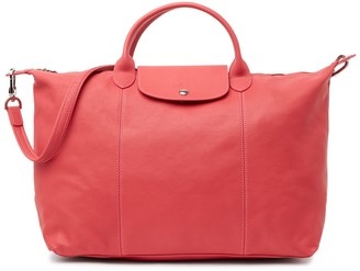 Longchamp Leather Strap Hobo Bag
