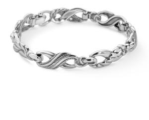 Carolyn Pollack Infinity Link Bracelet in Sterling Silver
