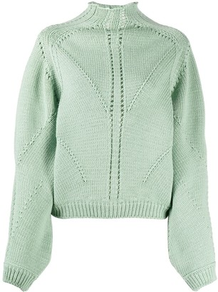 Alberta Ferretti Blouson-Sleeved Sweater