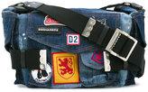 DSQUARED2 patched denim 'Postman' bag - women - Cotton - One Size