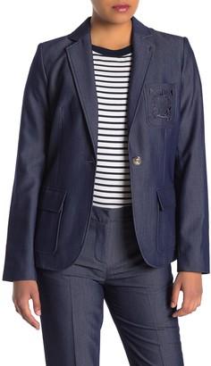 Modern American Designer Denim Pocket Blazer Jacket