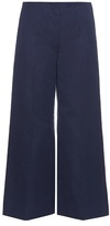 Sonia Rykiel Wide-leg cotton and linen-blend trousers