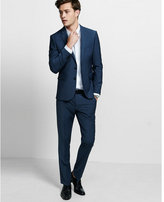 Express skinny innovator stretch wool blend blue suit pant
