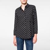 Paul Smith Women's Black 'Split Dot' Print Rayon Shirt