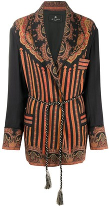 Etro Embroidered Single Breasted Coat