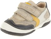 D. D. Step D.D. Step boys' boots, genuine leather, grey, yellow and beige, toddler size (038-4)