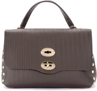 Zanellato Cachemire Blandine S Bag In Walnut-colored Silk-screened Leather
