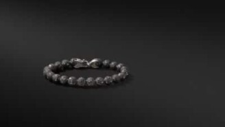 David Yurman Spiritual Beads Bracelet With Black Diamonds