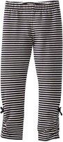 Hatley Little Girls' Rouched Leggings Stripes, Blue