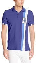U.S. Polo Assn. Men's Vertical Stripe Logo Patch Pique Polo Shirt