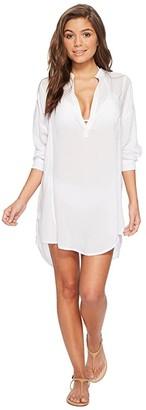 Mikoh Swimwear Cannes V-Neck Tunic Cover-Up (Night) Women's Swimwear
