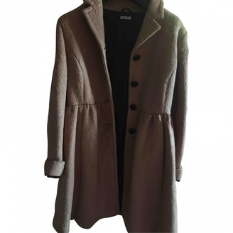 Miu Miu Camel Wool Coat for Women Vintage