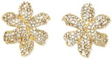 Vince Camuto Pave Blossom Clip-on Earrings