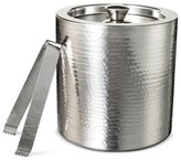 Threshold Hammered Ice Bucket with Tongs Stainless Steel