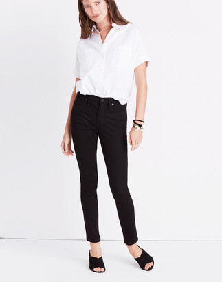 "Madewell 9"" Mid-Rise Skinny Jeans in ISKO Stay Black"