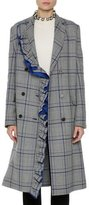 MSGM Plaid Ruffled Coat, Multipattern