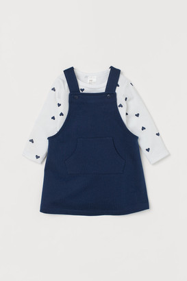 H&M Overall Dress and Bodysuit - Blue