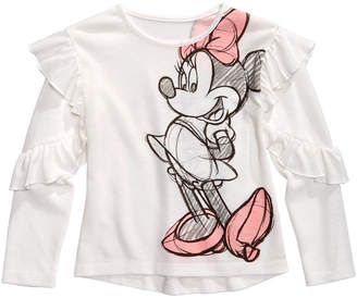 Disney Little Girls Minnie Mouse Ruffled Top