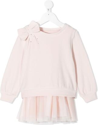 Lapin House Bow-Detail Sweatshirt Dress