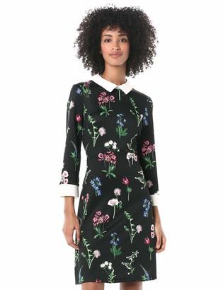 Pappagallo Women's 3/4 Sleeve Collar Dress