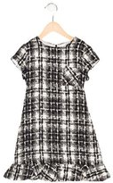 Helena Girls' Tweed Short Sleeve Dress